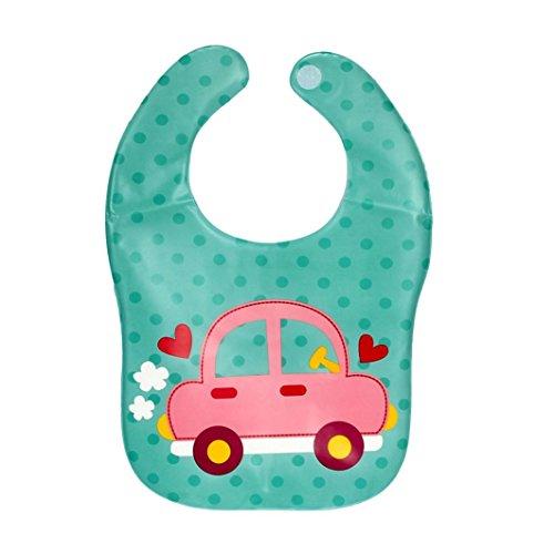 bavaglini morbido per il bambino, FEITONG nuovo figlio bambini di plastica traslucida impermeabile (verde)