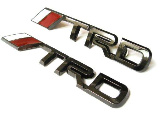 TRD Black Chrome Grille & Trunk Emblem (Trd Emblem Chrome compare prices)