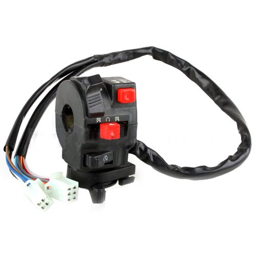 Promax 5-Function Atv Left Switch Assembly With Choke Lever Quad 4 Wheeler Taotao Sunl Jcl Coolster Kandi Supermach Tank