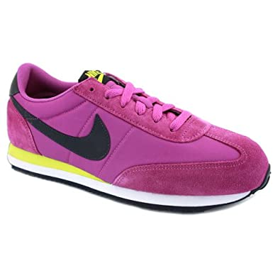 Nike Oceania Suede & Nylon Womens Trainers 307165571 Magenta - 5