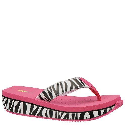 Volatile Girls' Enchanting Kids Toddler-Youth Sandal 2 M Us Little Kid Black-Pink-Zebra front-904026
