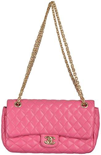 Gouri Bags Styish Casual Golden Chain Pink Color Flap Designer Sling Bag  Handbag Satchel For Girls af8432d822590