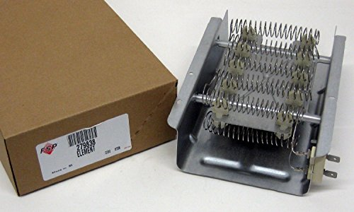 Part # 279838 or 398064 or 3403585 Genuine Factory Oem Original Clothes Dryer Heater Heating Element for Whirlpool, Maytag, Kenmore, Roper, Estate, Sears and Admiral. (Whirlpool Dryer Element 279838 compare prices)