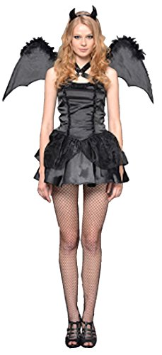 Cohaco Women's Angel Dark Angel Devil Costume Dress (Devil) (Angel Devil compare prices)