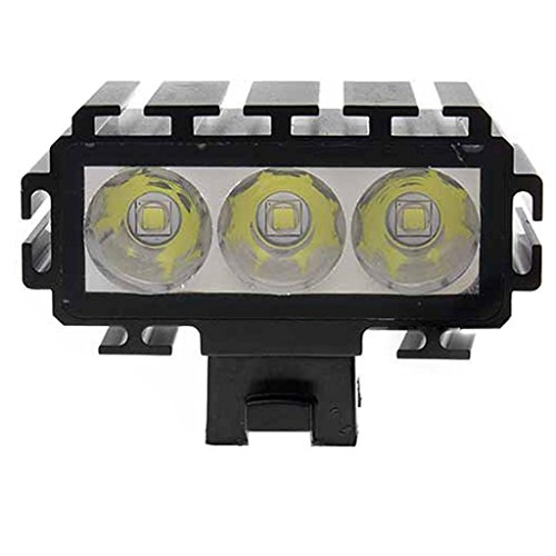 Most Powerful 3600 Lumen Light Bar 3 Cree Xm-L T6 Led Rechargeable Li-Ion Battery Bicycle Headlight Flashlight Black Highest Quality Aircraft Aluminum Alloy Waterproof Easy To Install Improves Safety Dark Rides Snowboarding Skiingdaytime Rides Road Mounta