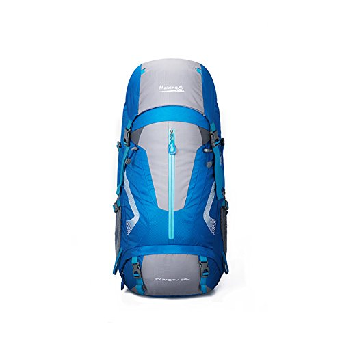 Sac d'escalade en plein air / épaules sac à dos des hommes et des femmes-bleu 60L