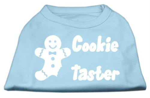 Mirage Pet Products 8-Inch Cookie Taster Screen Print Shirts for Pets, X-Small, Baby Blue (Halloween Costume Winners)
