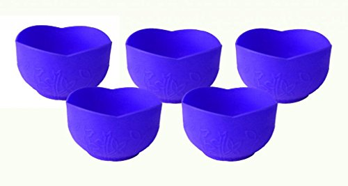 uHome Versatile Silicone Pinch Bowl 5 Pack Blue