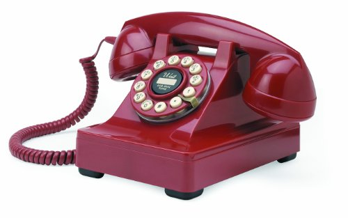 Wild & Wolf Series 302 Desk Phone - Red image