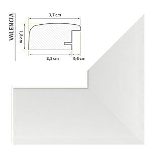 Bilderrahmen (Valencia) 100X150cm Weiß (matt)    Überprüfung und weitere Informationen