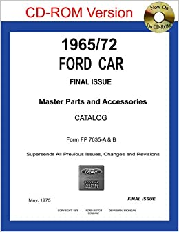 1965 72 ford car master parts and accessories catalog for Ford motor company auto parts
