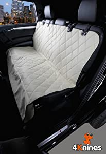 4Knines Rear Waterproof Non Slip Backing Seat Cover for Cars Trucks and SUV's
