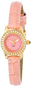 Invicta Womens 14690 Angel Pink Dial Crystal Accented Light