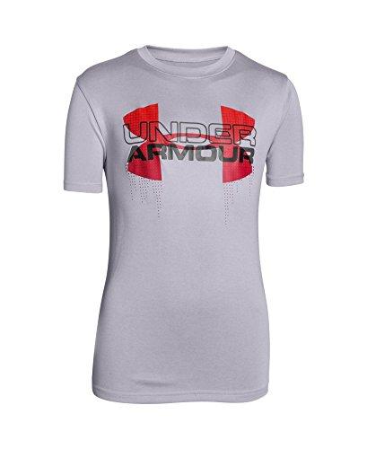Under Armour Boys' UA Tech8482; Big Logo Hybrid T-Shirt Youth Medium CLOUD GRAY