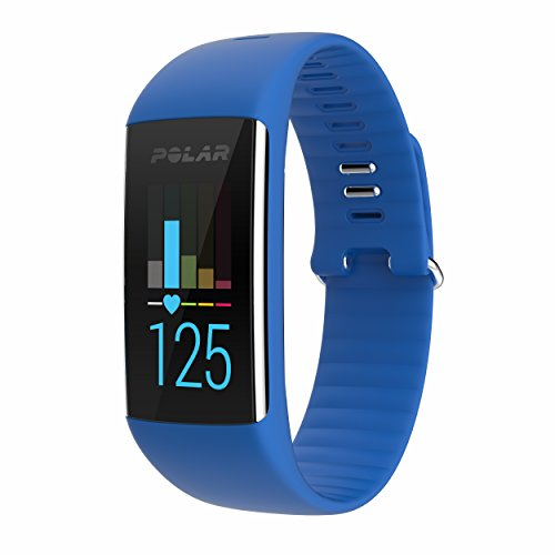 Polar A360 Fitness Tracker with Wrist Heart Rate Monitor (Blue, Medium)
