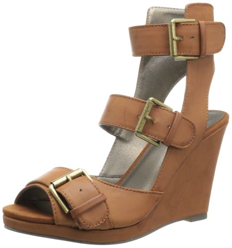 Michael Antonio Women's Adan Wedge Sandal,Cognac,5 M US