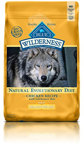 Blue Buffalo Wilderness Adult Dog Healthy Weight Chicken Formula - Grain Free 24 lb