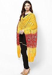 Soundarya Ethnicwear Cotton Bandhej Handwork Dupatta for Women (3057)