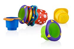 Game / Play Nuby Splish Splash Stacking Cups 5-Pack. Stackable, Toys, Non-toxic, Plastic, Colorful T