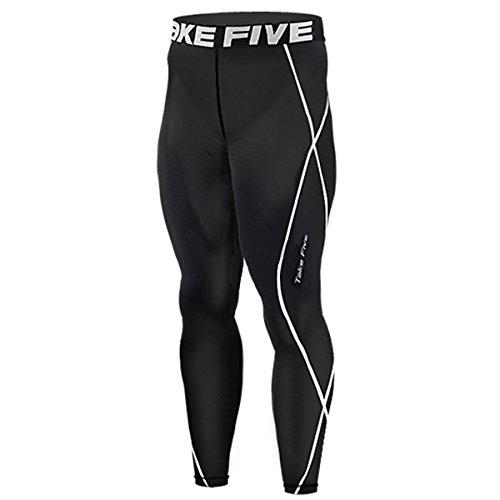 nuovo-011-skin-calzamaglia-leggings-a-compressione-base-strato-nero-corsa-da-uomo-nero-nero-xxl