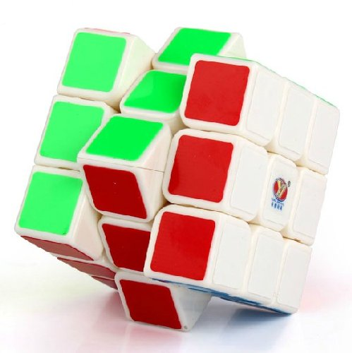New Yj Moyu Chilong 3x3x3 Speed Cube Puzzle Smooth 3x3 White - 1