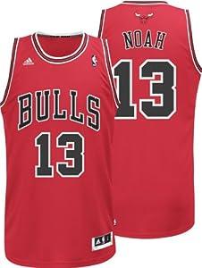 NBA Chicago Bulls Red Swingman Jersey Joakim Noah #13 by adidas