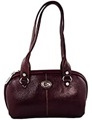 KARP Women's Vintage Casual Stylish Wine Red PU Leather Multi Compartment Large Capacity Shoulder Handbag (HandBag...