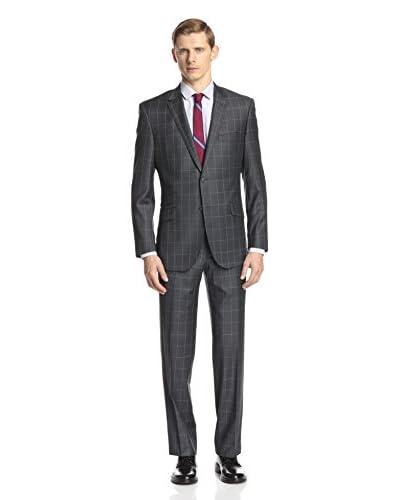 English Laundry Men's Windowpane Notch Lapel Suit