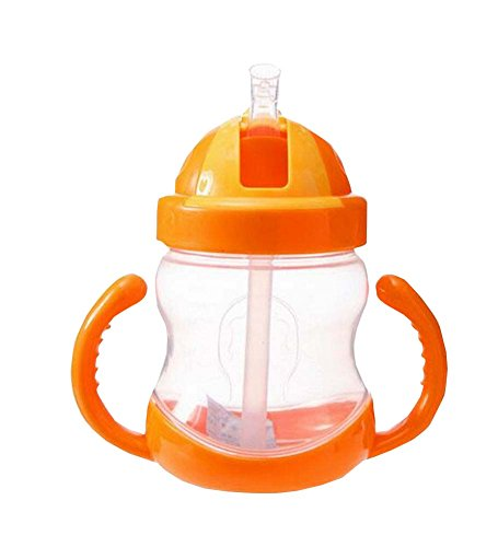 280ML-Baby-Wasserflasche-mit-Handgriff-Praktische-Kids-Trainingsflasche-orange
