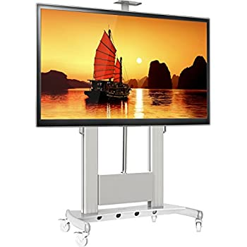 North Bayou Universal Mobile TV Cart TV Stand with Wheels for 60