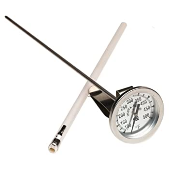 CDN IRL500 InstaRead Deep Fry Turkey Thermometer12-inch thermometer probe is perfect for deep frying vatsRegisters temperature ranging from 100 to 500 degrees FahrenheitStainless-steel clip adjusts to fit varying kettlesLarge 2-inch dial is easy to r...