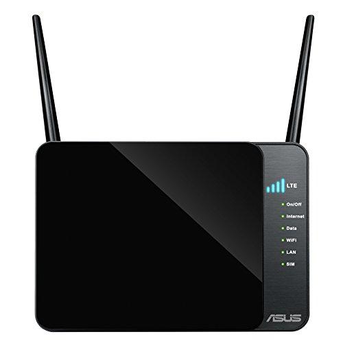 Asus 4G-N12 Router 4G LTE Modem Router, Wi-Fi N300, 3G/4G, 4 Porte Ethernet Integrato, Nero/Antracite