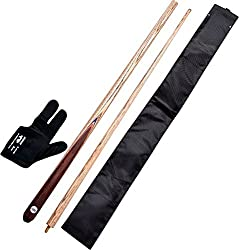 147 COMBO 1 (glove , cue cover and snooker n billiard cue )