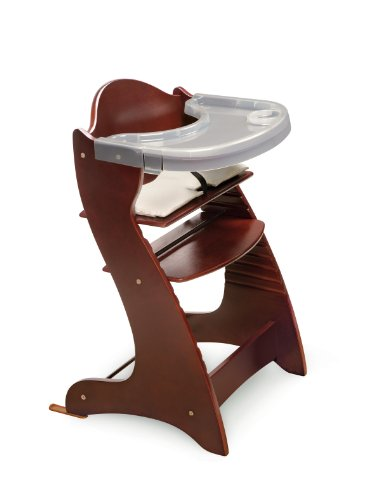 Badger Basket Embassy Wood Baby High Chair with Tray, Cherry - 1