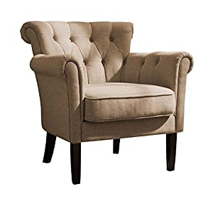 Homelegance 1193F1S Flared Arm Accent Chair, Khaki Brown
