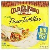 Old El Paso 12 X Soft Flour Tortillas 489G