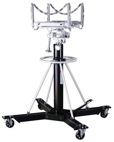 Omega 42003 Black Telescopic Transmission Jack - 1 Ton Capacity