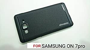 Efonebits(TM) Premium Dotted Black Rubberised Soft Back Case Skin Cover For Samsung Galaxy On7 Pro 2016 edition