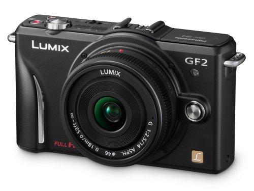 Panasonic Lumix GF2 Digital Camera with 14mm Lens - Black