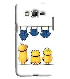 Blue Throat Three Minions Printed Designer Back Cover/Case For Samsung Galaxy Grand Prime