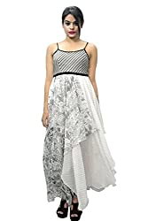 Manish Ahuja Designer Chiffon Printed Spaghetti Strap Dress
