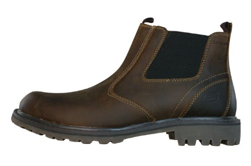c4906548e552d1 The Features Skechers Roven United Mens Leather Chelsea Boots Brown SIZE US  9 -