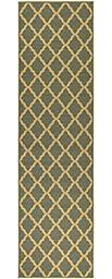 Ottomanson Ottohome Collection Contemporary Morrocon Trellis Design Runner Rug with Non-skid (Non-slip) Rubber Backing Lattice, 1\'10\