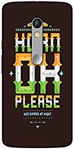 Snoogg Horn Ok Please 2744 Solid Snap On - Back Cover All Around Protection F...
