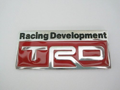 TRD Racing Development Steel Auto Car Emblems Accessories By Chrome Emblem 3d Badge 3m Adhesive (Trd Emblem Chrome compare prices)