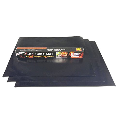 Teapex Chef Grill Mat 3 Pack Jumbo Size 19.69