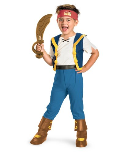 Disney Jake And The Neverland Pirates Jake Deluxe Costume, 4T-6T