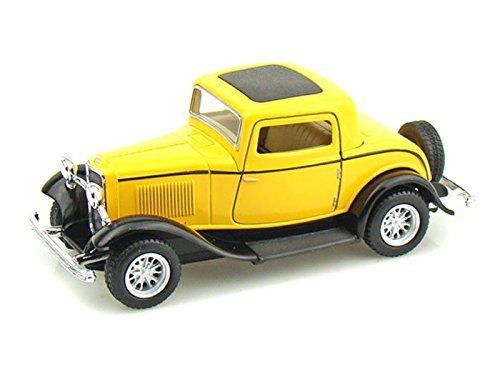 1932 Ford 3-Window Coupe 1/34 Yellow