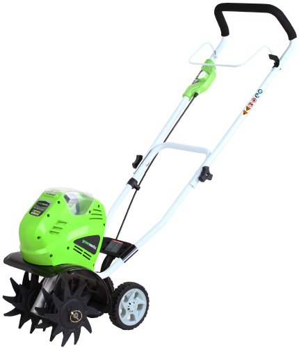 Buy Discount GreenWorks 27062 G-MAX 40V Li-Ion Cordless Cultivator, 4Ah Battery and Charger Inc.