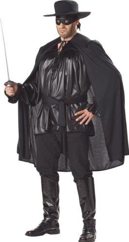 Adult Men's Plus Size Zorro Halloween Costume
